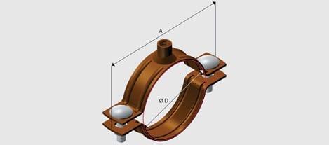 EZY E7 Nut Clip to suit Copper Tube