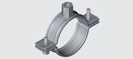 EZY E7 Nut Clip to suit PVC Pipe - Stainless Steel