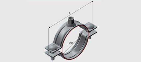 EZY E7 Nut Clip to suit PVC Pipe - Zinc