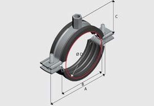 Ezy E8L Light Insulated Pipe Clamp