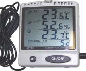 HLP Desktop Temperature & Humidity Display & Data Logger